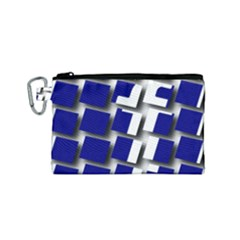 Facebook Social Media Network Blue Canvas Cosmetic Bag (small) by Celenk