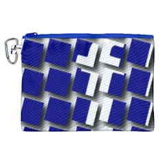 Facebook Social Media Network Blue Canvas Cosmetic Bag (xl) by Celenk