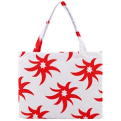 Star Figure Form Pattern Structure Mini Tote Bag