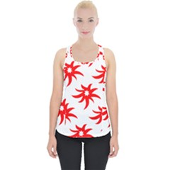 Star Figure Form Pattern Structure Piece Up Tank Top by Celenk