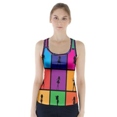 Girls Fashion Fashion Girl Young Racer Back Sports Top by Celenk