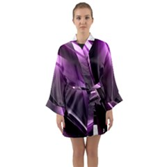 Fractal Mathematics Abstract Long Sleeve Kimono Robe by Celenk