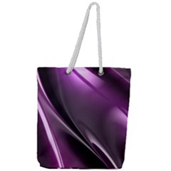 Fractal Mathematics Abstract Full Print Rope Handle Tote (large) by Celenk