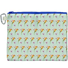 Birds Hummingbirds Wings Canvas Cosmetic Bag (xxxl) by Celenk