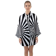 Rays Stripes Ray Laser Background Long Sleeve Kimono Robe