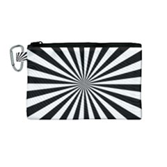 Rays Stripes Ray Laser Background Canvas Cosmetic Bag (medium)
