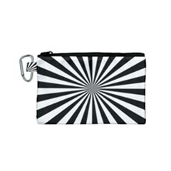 Rays Stripes Ray Laser Background Canvas Cosmetic Bag (small)