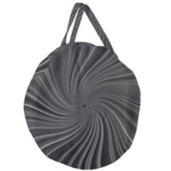 Abstract Art Color Design Lines Giant Round Zipper Tote
