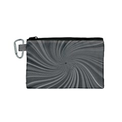 Abstract Art Color Design Lines Canvas Cosmetic Bag (small)