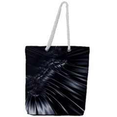 Fractal Mathematics Abstract Full Print Rope Handle Tote (large)