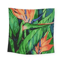 Flowers Art Beautiful Square Tapestry (small)