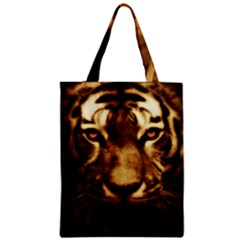 Cat Tiger Animal Wildlife Wild Zipper Classic Tote Bag by Celenk