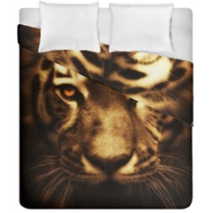 Cat Tiger Animal Wildlife Wild Duvet Cover Double Side (california King Size) by Celenk