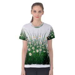 Spring Flowers Grass Meadow Plant Women s Cotton Tee