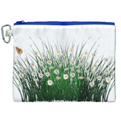 Spring Flowers Grass Meadow Plant Canvas Cosmetic Bag (xxl) by Celenk
