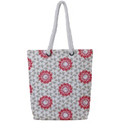 Stamping Pattern Fashion Background Full Print Rope Handle Tote (small)