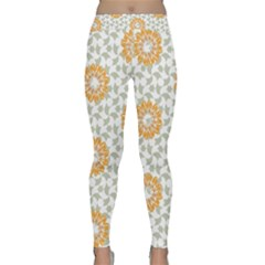 Stamping Pattern Fashion Background Classic Yoga Leggings