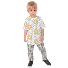 Stamping Pattern Fashion Background Kids Raglan Tee