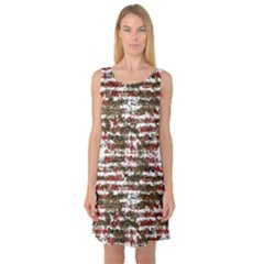 Grunge Textured Abstract Pattern Sleeveless Satin Nightdress by dflcprints