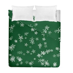 Template Winter Christmas Xmas Duvet Cover Double Side (full/ Double Size) by Celenk