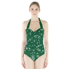Template Winter Christmas Xmas Halter Swimsuit by Celenk
