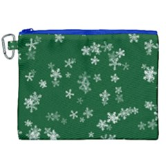 Template Winter Christmas Xmas Canvas Cosmetic Bag (xxl) by Celenk