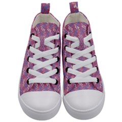 Pattern Abstract Squiggles Gliftex Kid s Mid Top Canvas Sneakers