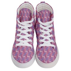 Pattern Abstract Squiggles Gliftex Women s Hi Top Skate Sneakers