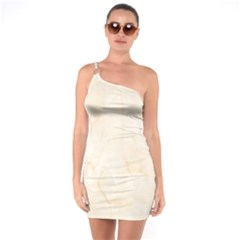 Rock Tile Marble Structure One Soulder Bodycon Dress