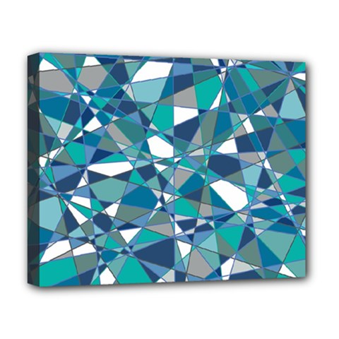 Abstract Background Blue Teal Deluxe Canvas 20  X 16   by Celenk