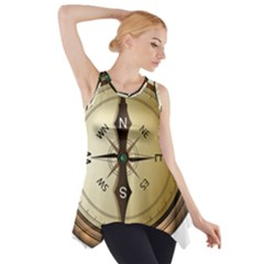 Compass North South East Wes Side Drop Tank Tunic