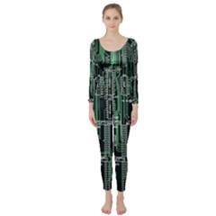 Printed Circuit Board Circuits Long Sleeve Catsuit