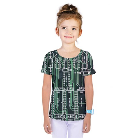 Printed Circuit Board Circuits Kids  One Piece Tee by Celenk