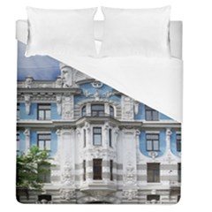Squad Latvia Architecture Duvet Cover (queen Size) by Celenk