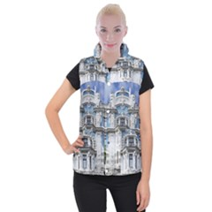 Squad Latvia Architecture Women s Button Up Puffer Vest