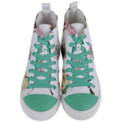 Rose Flowers Campanula Bellflower Women s Mid-top Canvas Sneakers