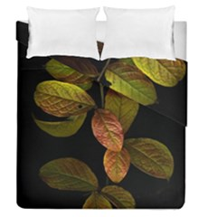 Autumn Leaves Foliage Duvet Cover Double Side (queen Size) by Celenk