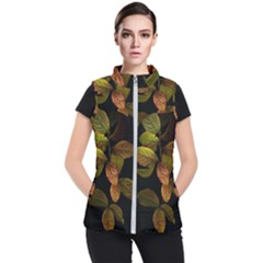 Autumn Leaves Foliage Women s Puffer Vest