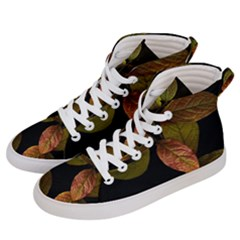 Autumn Leaves Foliage Men s Hi Top Skate Sneakers by Celenk