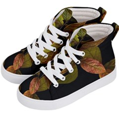 Autumn Leaves Foliage Kid s Hi Top Skate Sneakers by Celenk