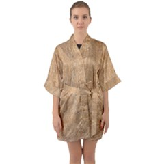 Rock Tile Marble Structure Quarter Sleeve Kimono Robe