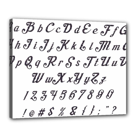 Font Lettering Alphabet Writing Canvas 20  X 16  by Celenk