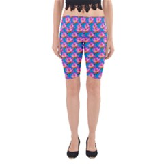 Seamless Flower Pattern Colorful Yoga Cropped Leggings by Celenk