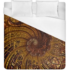 Copper Caramel Swirls Abstract Art Duvet Cover (king Size)