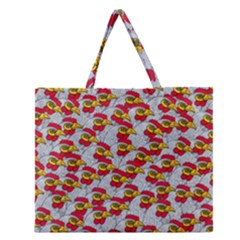 Chickens Animals Cruelty To Animals Zipper Large Tote Bag