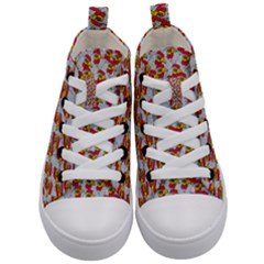 Chickens Animals Cruelty To Animals Kid s Mid-top Canvas Sneakers