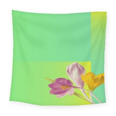Background Homepage Blossom Bloom Square Tapestry (large)