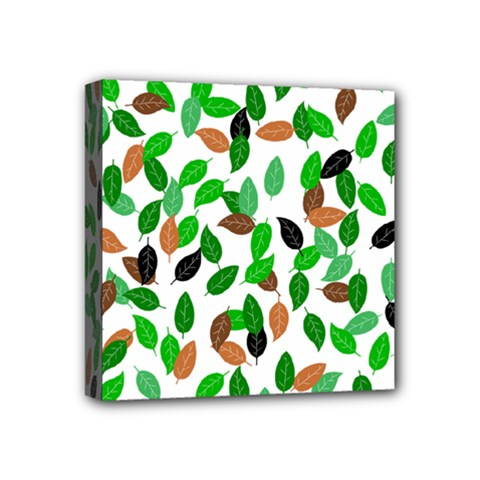 Leaves True Leaves Autumn Green Mini Canvas 4  X 4  by Celenk