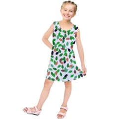 Leaves True Leaves Autumn Green Kids  Tunic Dress by Celenk