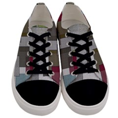 Decor Painting Design Texture Men s Low Top Canvas Sneakers